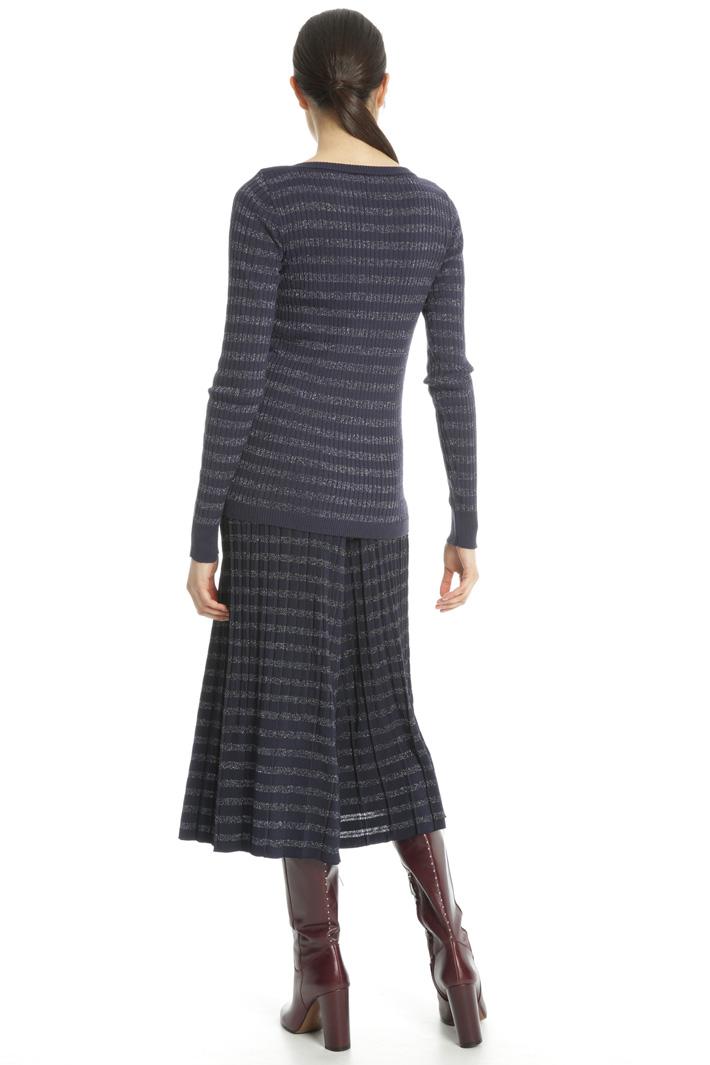 Striped lurex sweater Intrend