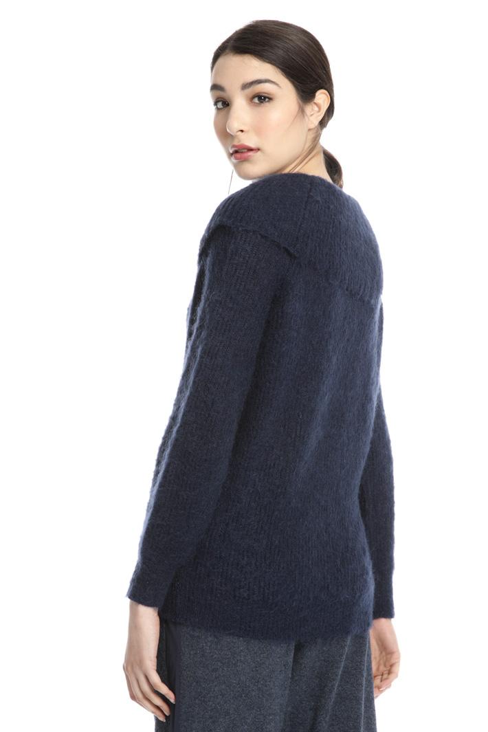 Mohair blend yarn sweater Intrend