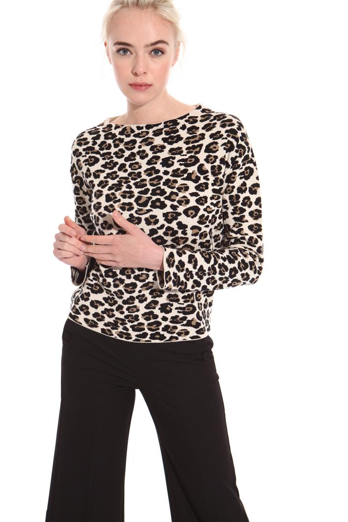 Animalier print boxy sweater Intrend