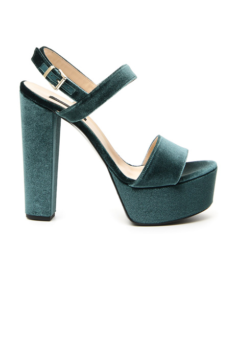 Velvet platform shoes Intrend