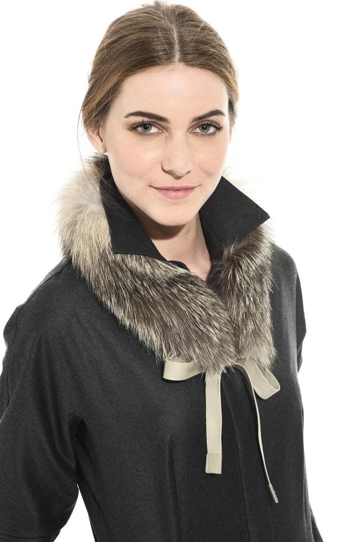 Fox fur collar for coats Intrend