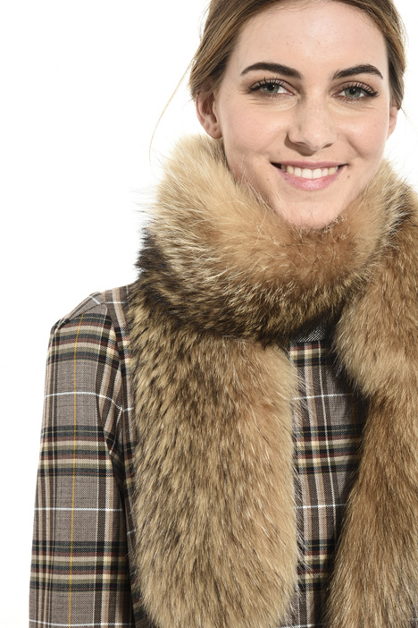 Real fur scarf Intrend