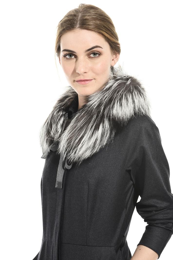 Fox fur collar for coats Intrend