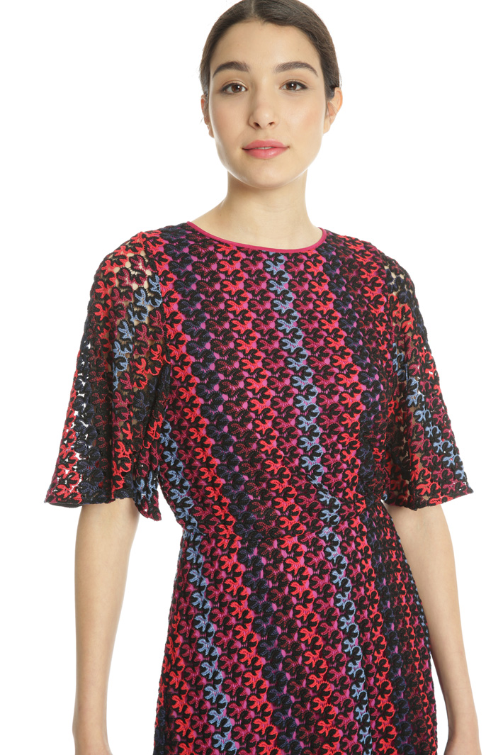 Multicoloured macramé dress Intrend