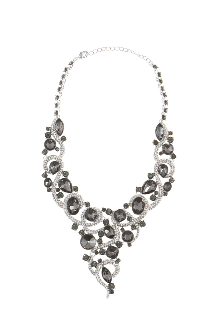 Necklace with rhinestones Intrend