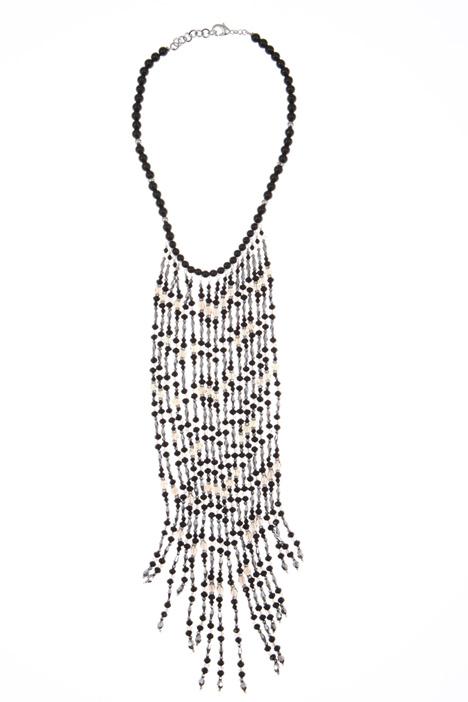 Collana con perle e cristalli Intrend