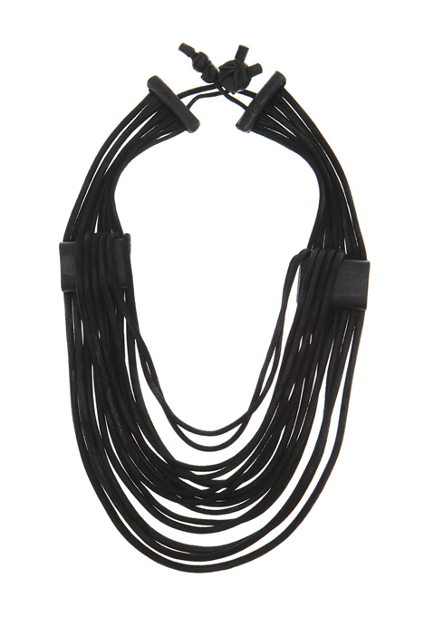 Multi-row leather necklace Intrend