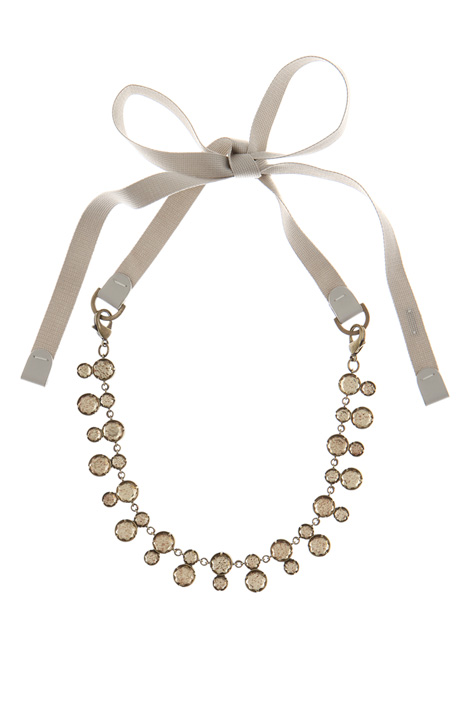 Cotton ribbon necklace Intrend