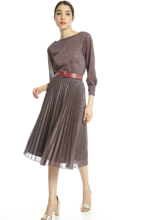 Pleated lurex skirt Intrend