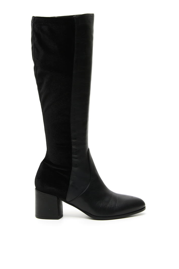 Nappa and velvet boots Intrend