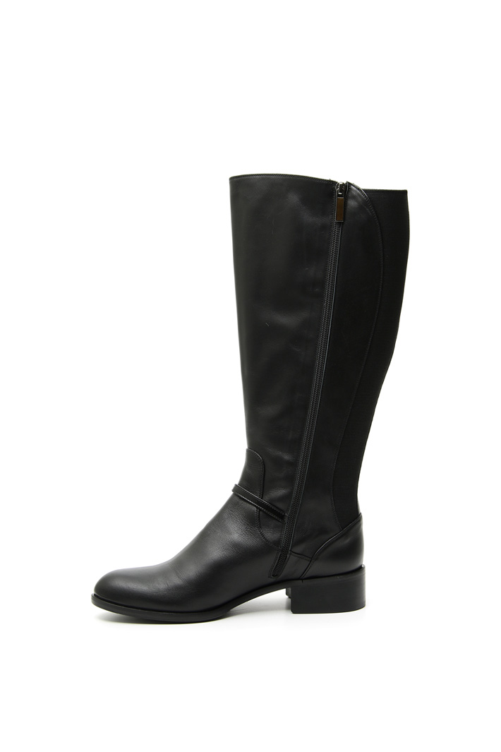 Leather knee-high boots Intrend
