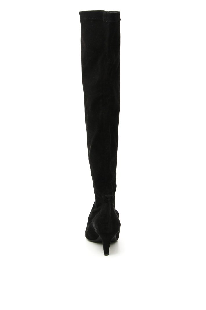 Suede over-the-knee boots Intrend