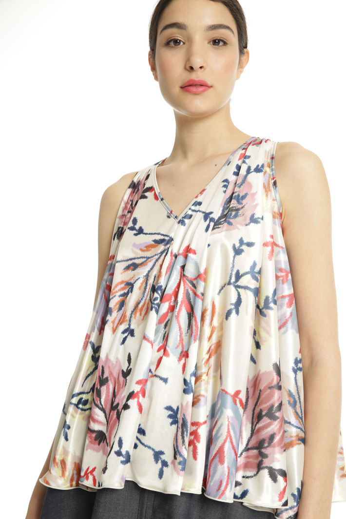 Pleated jersey top Intrend
