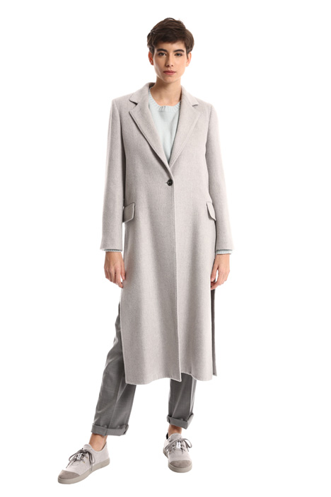 Camel coat with slit Intrend