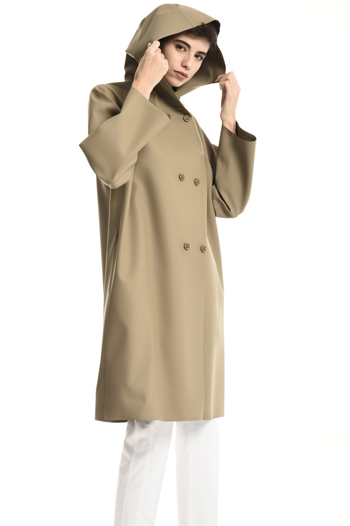 Coated jersey coat Intrend