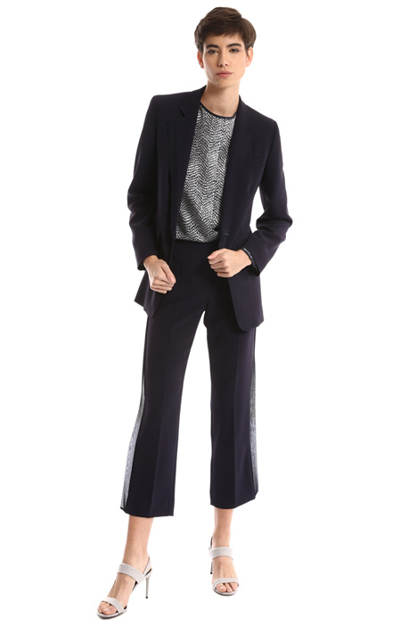 Silk trim blazer Intrend