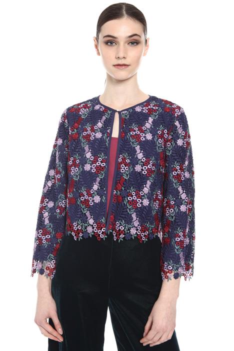 Floral macramé bolero jacket Intrend
