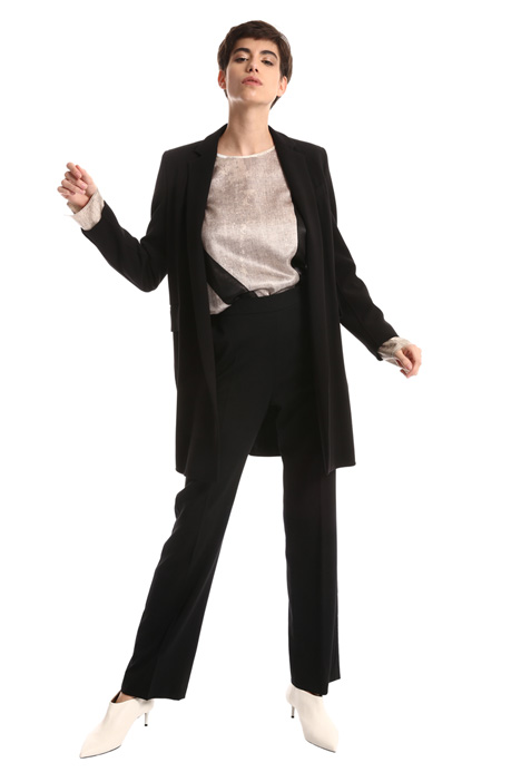 Long blazer in pure wool  Intrend