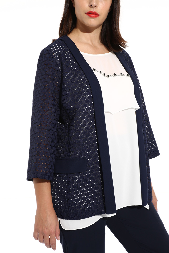 Macrame lace jacket Intrend