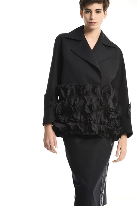 Cotton jacket with ruffles Intrend