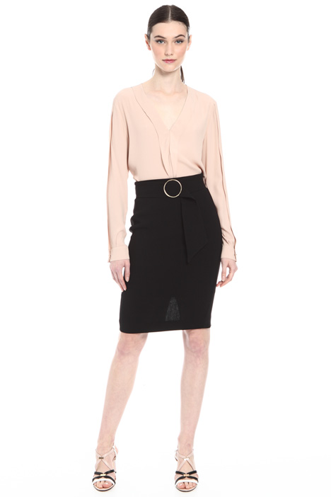 Crepe pencil skirt Intrend