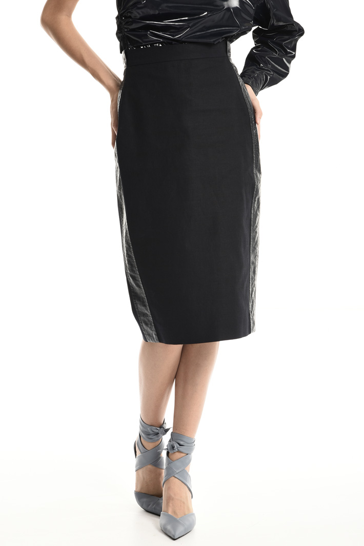 Cotton and linen tube skirt   Intrend