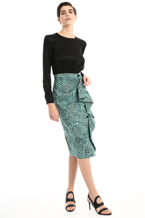 Skirt with side draping Intrend