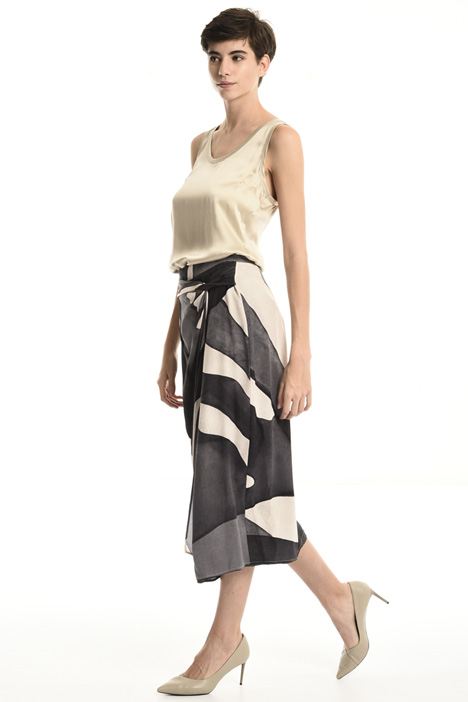 Pure silk crepe skirt Intrend