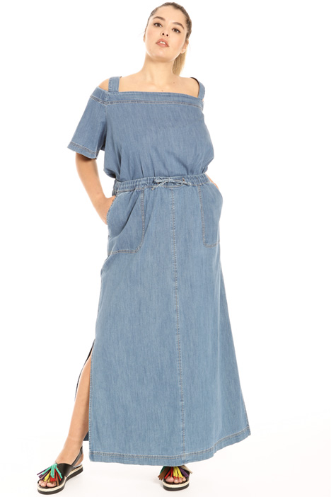 Long denim skirt Intrend