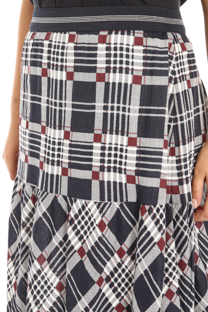 Printed linen skirt Intrend