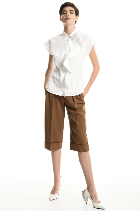 Draped cotton shirt    Intrend