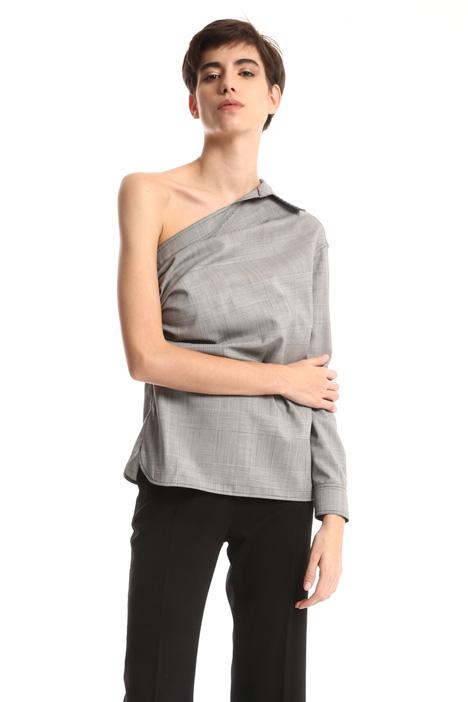 One sleeve wool shirt Intrend