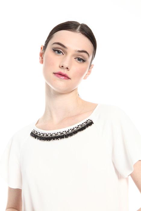 Silk blend crepe blouse   Intrend
