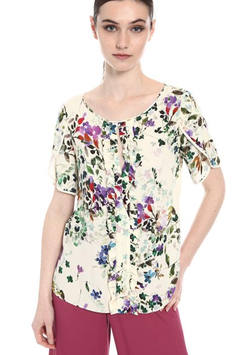 Marocaine crepe blouse   Intrend