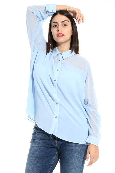 Camicia in georgette Intrend
