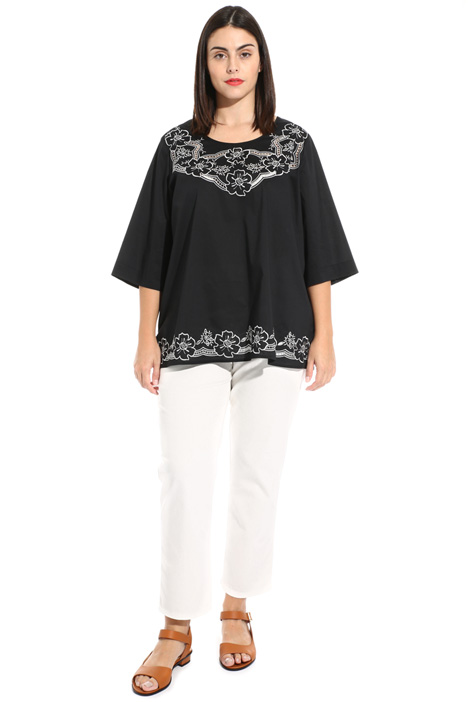 Cotton poplin tunic Intrend