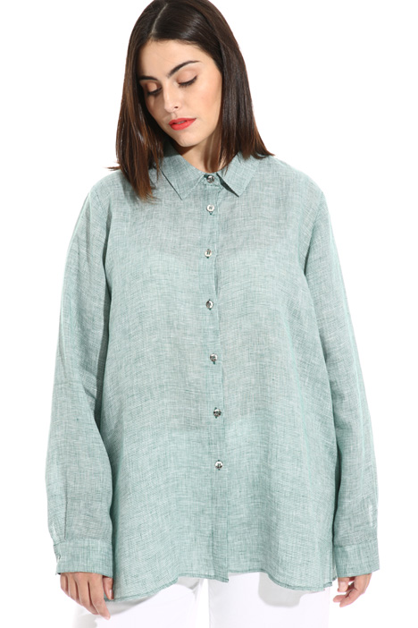 Oversized pure linen shirt Intrend