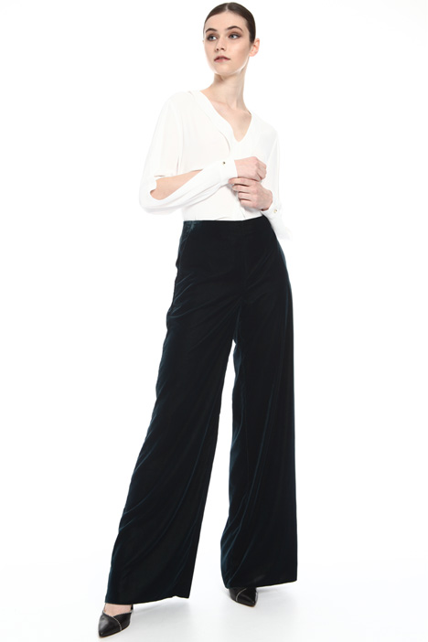 Fluid velvet trousers Intrend