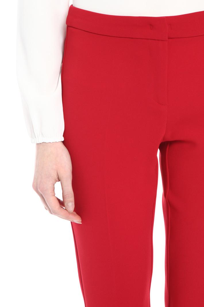 Cigarette crepe trousers Intrend