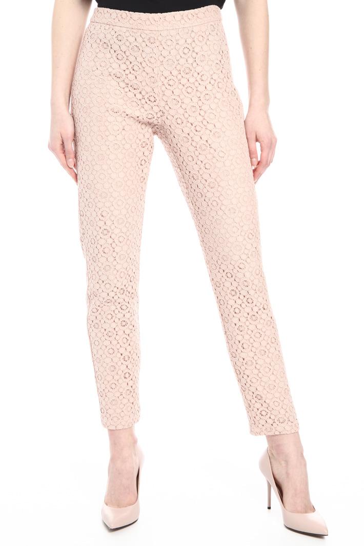 Macramé lace trousers   Intrend