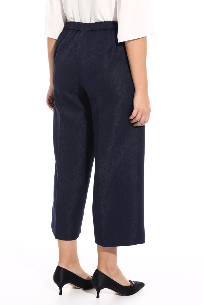 Cropped jacquard trousers Intrend