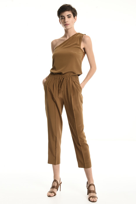 Cropped silk trousers Intrend