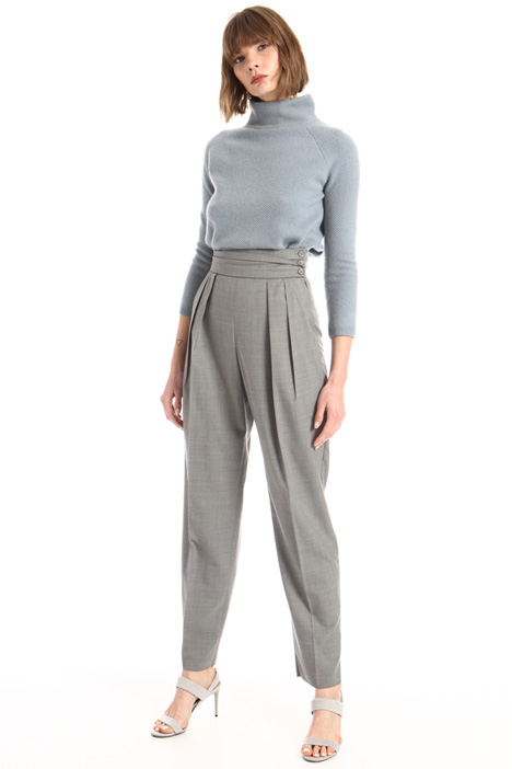Pleated waistband trousers Intrend