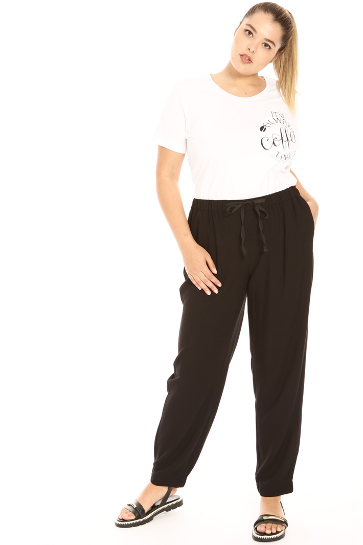 Viscose panama trousers Intrend