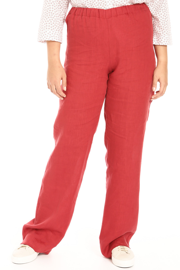 Palazzo trousers in linen Intrend
