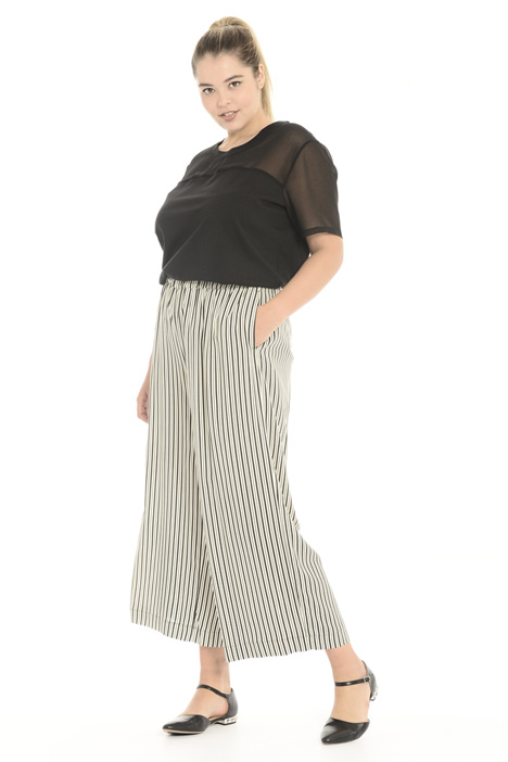 Cropped trousers in viscose Intrend