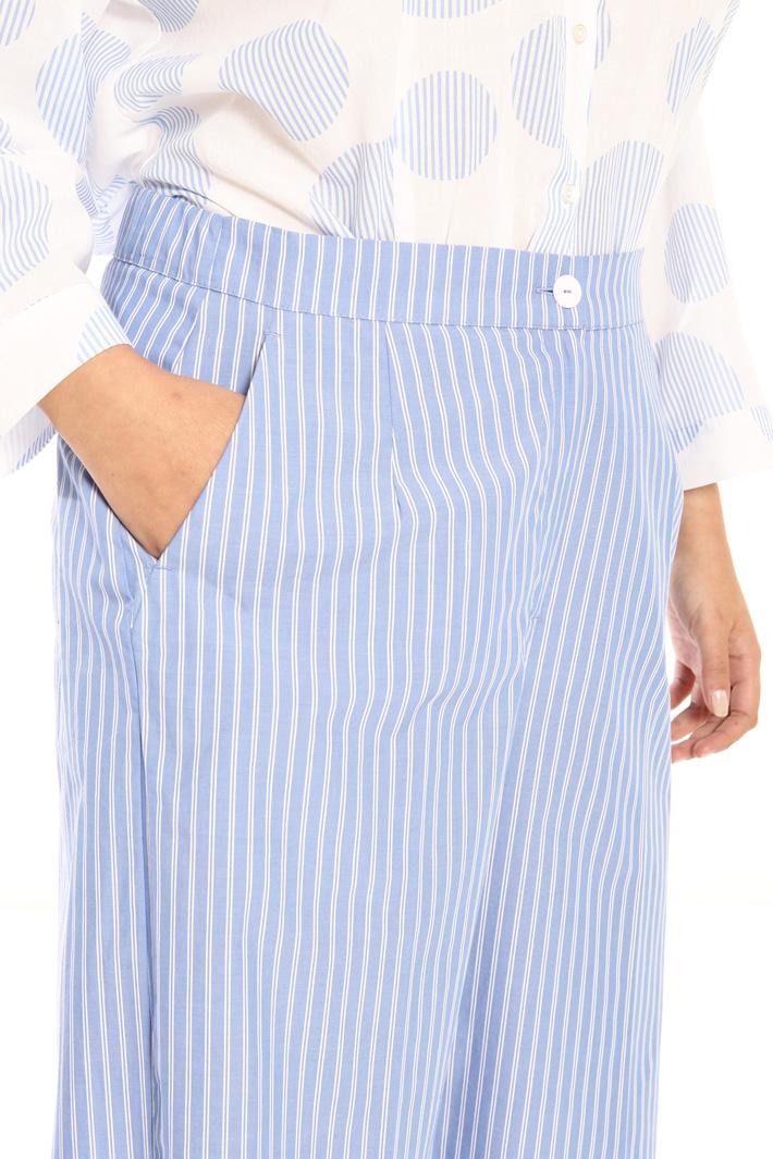 Pure cotton midi trousers Intrend
