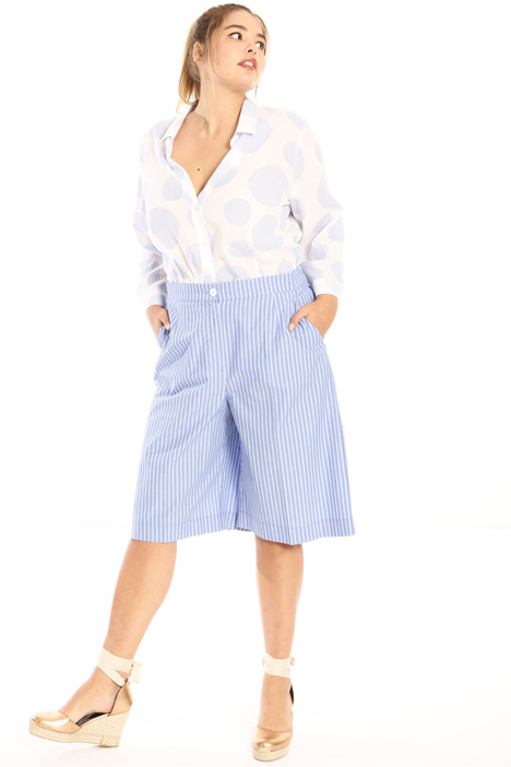 Pure cotton midi trousers Intrend
