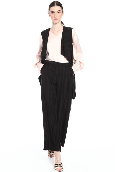 Jacquard fabric waistcoat Intrend