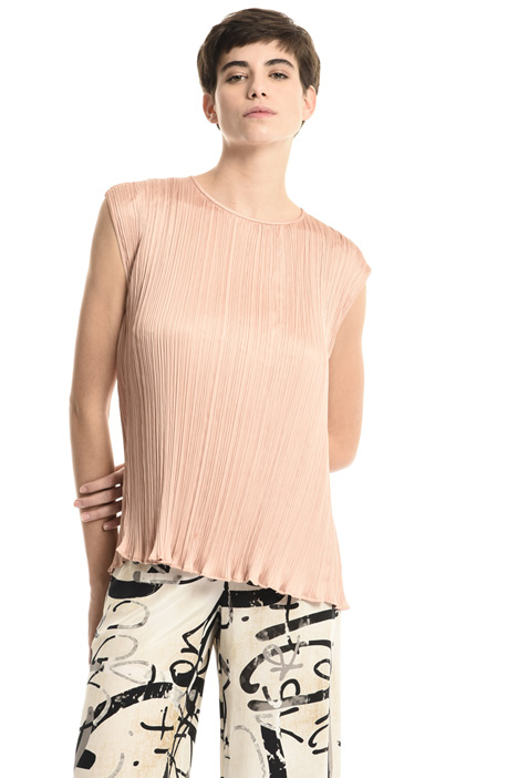 Pleated satin top Intrend